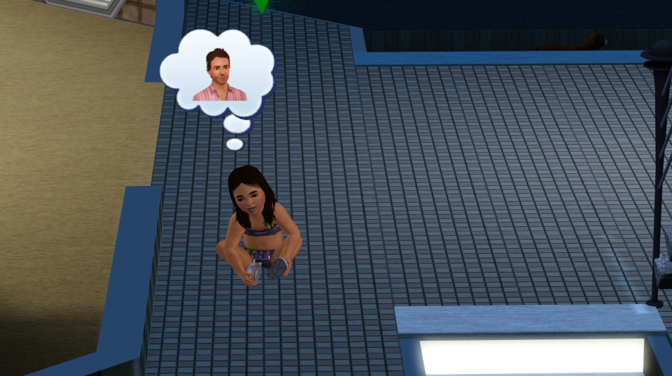 So, last time, we moved to Isla Paradiso, brought in Teodor Medina and although his family tree said he had a kid, Palmira, she didn't turn up.  However, a recover missing sims operation later and she turned up.